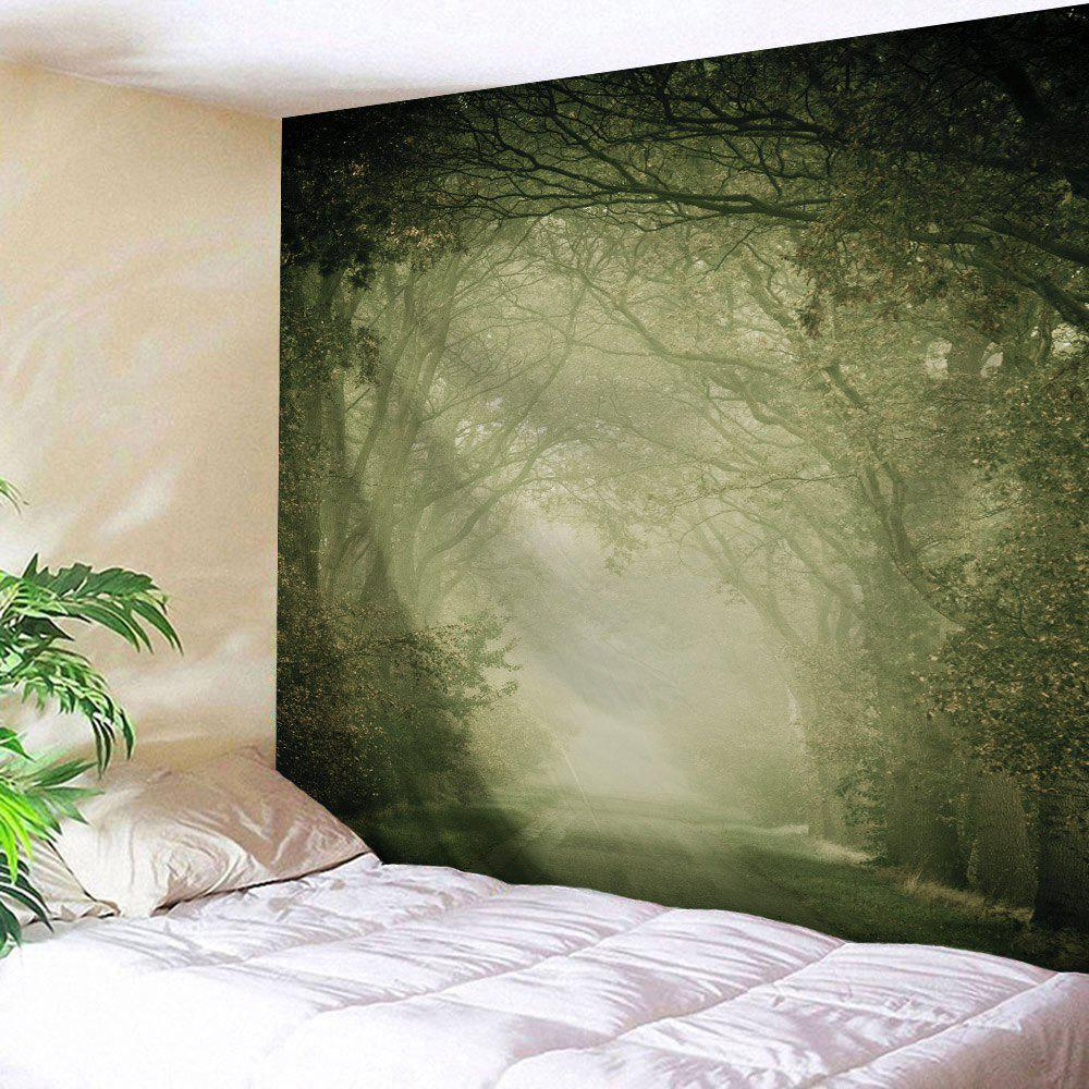 Wall Art Hanging Mist Forest Fairyland Tapestry - LIGHT GREEN W51 INCH * L59 INCH