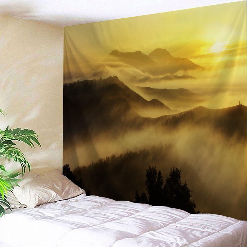 Misty Mountains Scenery Wall Blanket Tapestry