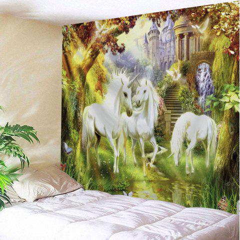 Unicorn Fairyland Throw Wall Hanging Tapestry - COLORMIX W51 INCH * L59 INCH