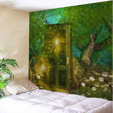 Fairy Forest Hanging Tapestry Wall Art Decoration - GREEN W71 INCH * L91 INCH