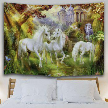 Unicorn Fairyland Throw Wall Hanging Tapestry - multicolorcolore W51 INCH * L59 INCH