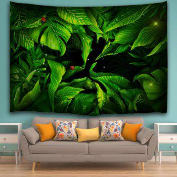 Wall Art Greenery Tapestry For Bedroom Dorm Decor - DEEP GREEN W71 INCH * L91 INCH