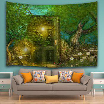 Fairy Forest Hanging Tapestry Wall Art Decoration - GREEN W59 INCH * L79 INCH