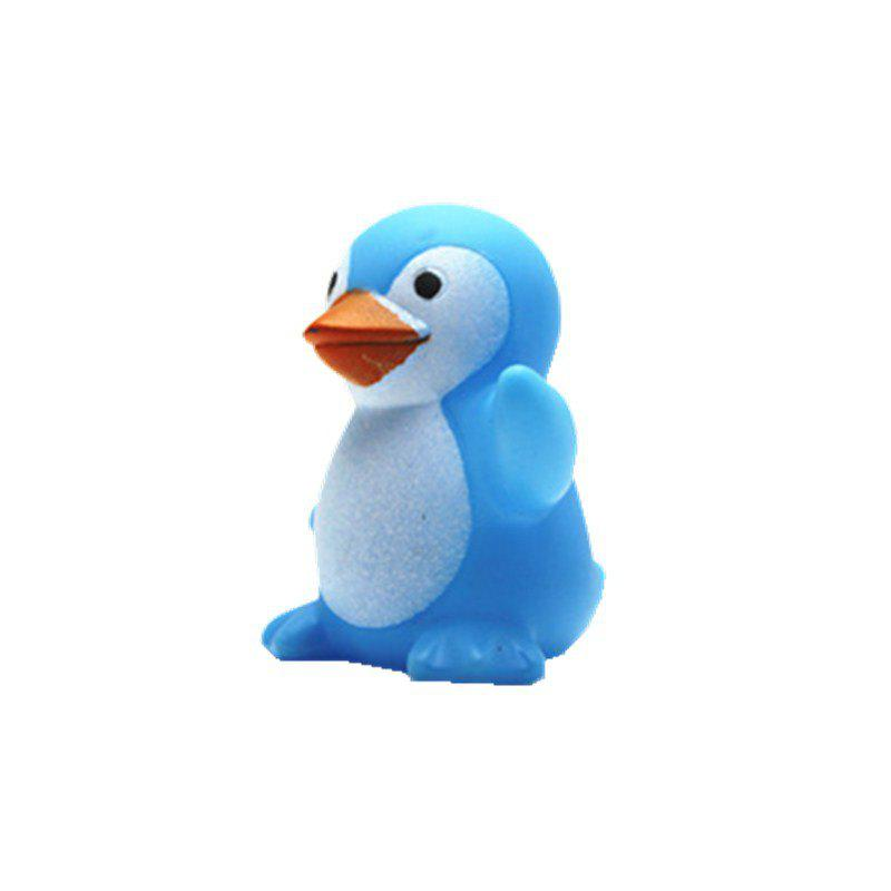 Cute Penguin Style Sound Toy for Kids Bathing Paddle Essential - BLUE