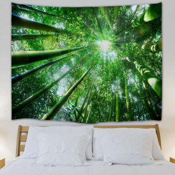 Bamboo Forest Printed Wall Hanging Tapestry - GREEN W59 INCH * L79 INCH