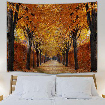 Autumn Grove Scenery Print Throw Wall Tapestry - GOLD BROWN W51 INCH * L59 INCH