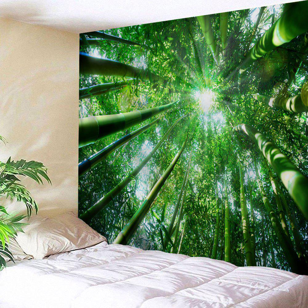Bamboo Forest Printed Wall Hanging Tapestry fog forest printed wall hanging tapestry