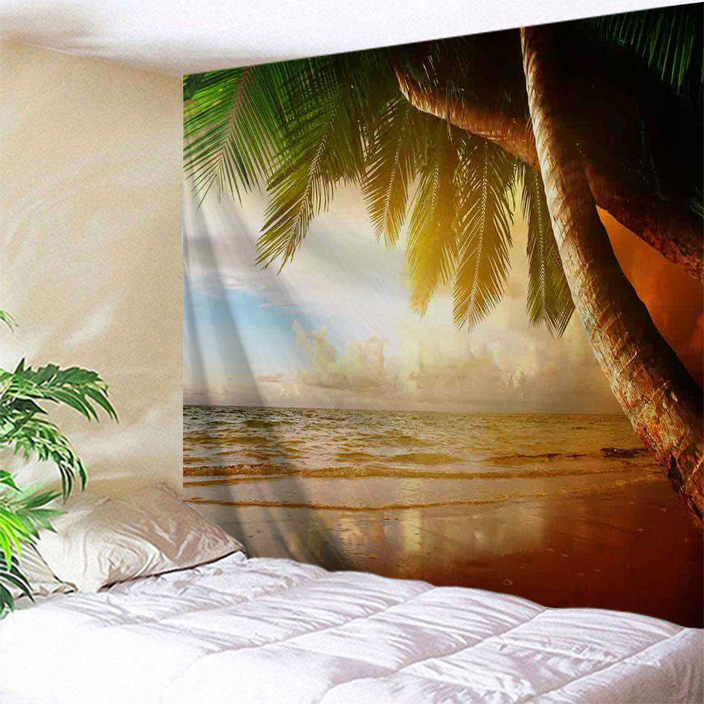 Beach Palm Tree Print Tapestry Wall Hanging Art palm plants print wall art hanging tapestry