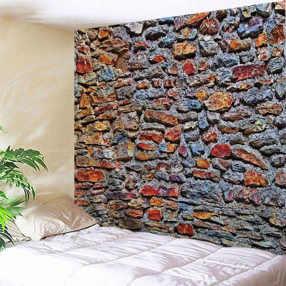 Colorful Stone Wall Print Tapestry Wall Hanging Art two tone stripe print tapestry wall hanging art