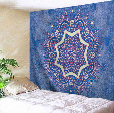 Indian Mandala Wall Hanging Blanket Tapestry - BLUE W71 INCH * L91 INCH
