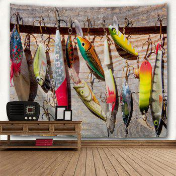 Fishhook Print Hanging Wall Art Decoration Tapestry - COLORMIX W71 INCH * L79 INCH