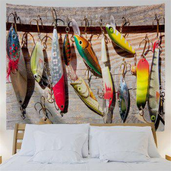 Fishhook Print Hanging Wall Art Decoration Tapestry - multicolorcolore W71 INCH * L91 INCH