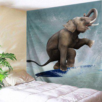 Surfing Elephant  Home Decor Wall Tapestry