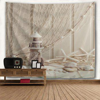 Beach Style Wall Hanging Blanket Decorative Tapestry - APRICOT W71 INCH * L91 INCH