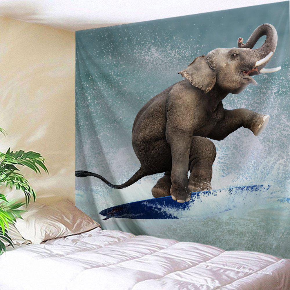 Surfing Elephant Home Decor Wall Tapestry зажимы blunt 2 bolt clamp oil slick