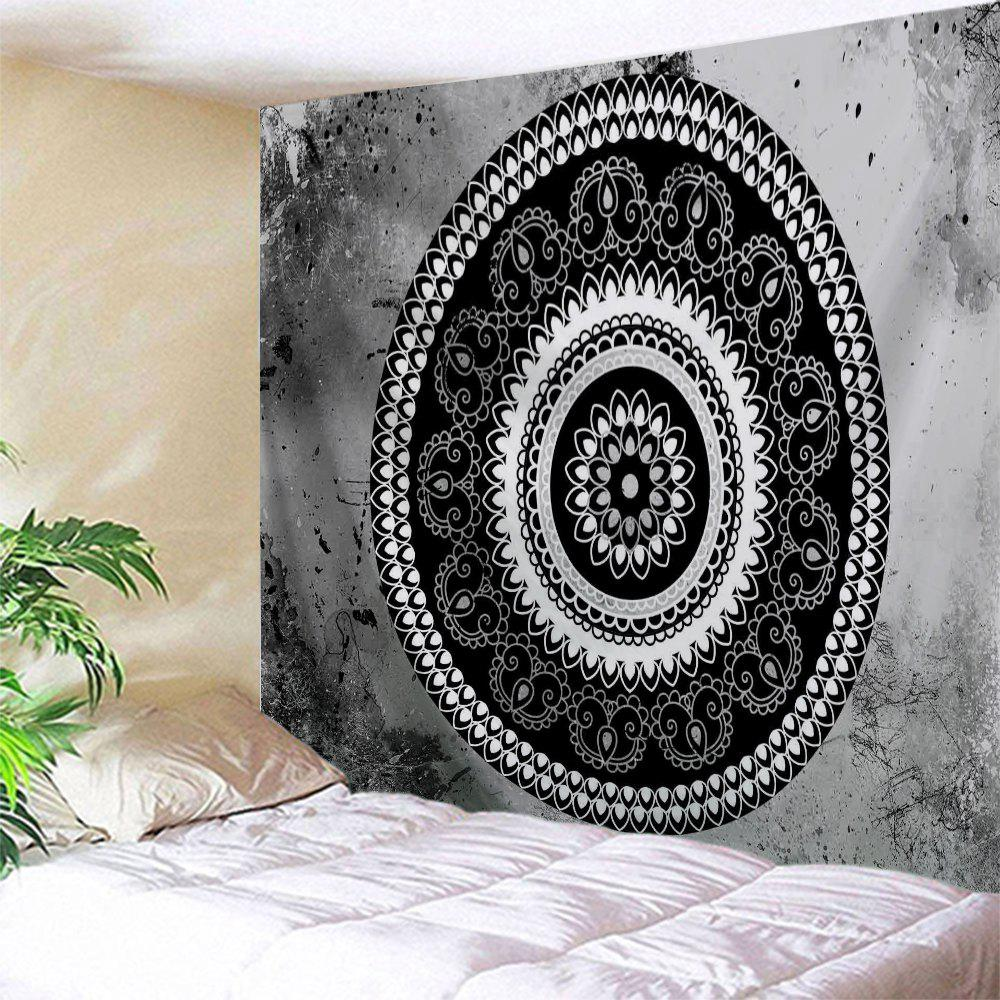 2018 d coration int rieure d coration murale tirage mandala gris noir largeur pouces longueur. Black Bedroom Furniture Sets. Home Design Ideas