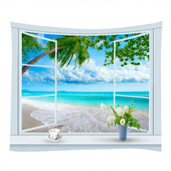 Window Tree Beach Print Tapestry Wall Hanging Art - Pers W59 INCH * L51 INCH