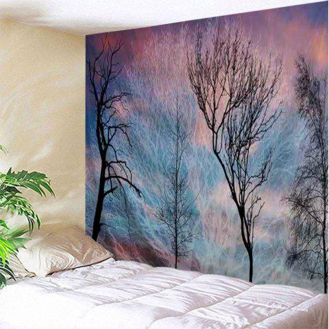Arbres Print Tapestry Wall Hanging Art - multicolore W71 INCH * L91 INCH