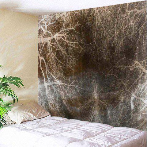 Underground Tree Root Print Tapestry Wall Hanging Art - DUN W59 INCH * L59 INCH