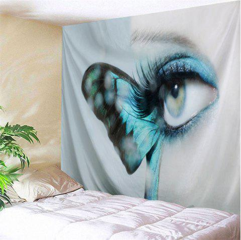 Artistic Butterfly Eye Wall Decorative Tapestry - GREY WHITE W71 INCH * L79 INCH