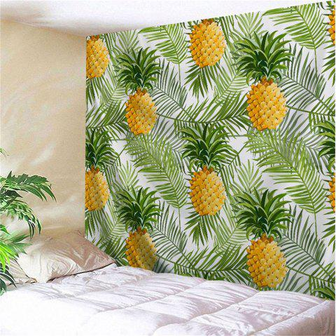 Palm Leaf Pineapple Wall Hanging Home Decor Tapestry - GREEN W59 INCH * L79 INCH