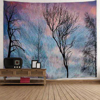 Trees Print Tapestry Wall Hanging Art - COLORMIX W71 INCH * L91 INCH