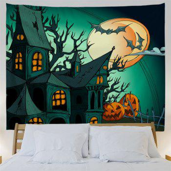 Halloween Theme Decoration Fabric Wall Tapestry - DEEP GREEN W51 INCH * L59 INCH