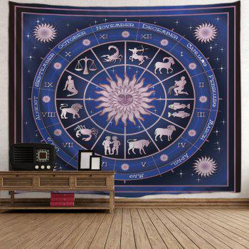 12 Constellations Print Tapestry Wall Hanging Art - DEEP BLUE W51 INCH * L59 INCH