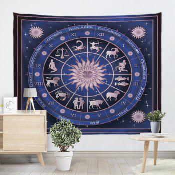 12 Constellations Print Tapestry Wall Hanging Art - DEEP BLUE W71 INCH * L91 INCH