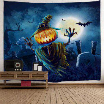 Home Decoration Wall Hanging Halloween Tapestry - NIGHT BLUE W51 INCH * L59 INCH