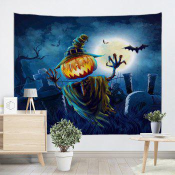 Home Decoration Wall Hanging Halloween Tapestry - NIGHT BLUE W71 INCH * L79 INCH