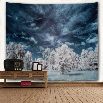 Mystery Forest Polyester Wall Blanket Tapestry - MIDNIGHT W59 INCH * L59 INCH