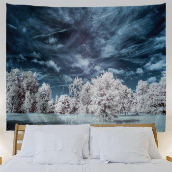 Mystery Forest Polyester Wall Blanket Tapestry - MIDNIGHT W71 INCH * L91 INCH