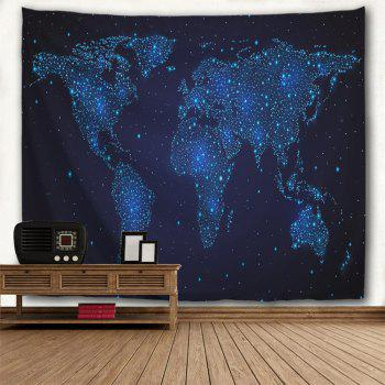 Hanging Decor Starry World Map Wall Tapestry - NIGHT BLUE W71 INCH * L91 INCH