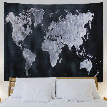 World Map Pattern Wall Tapestry For Home Decor - BLACK W71 INCH * L79 INCH