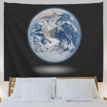 Moon Print Wall Hanging Tapestry Home Decoration - BLACK W59 INCH * L59 INCH