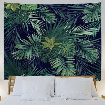 Palm Plants Printed Wall Art Hanging Tapestry - DARK GREEN W59 INCH * L59 INCH