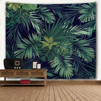 Palm Plants Printed Wall Art Hanging Tapestry - DARK GREEN W59 INCH * L79 INCH