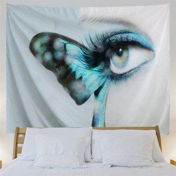 Artistic Butterfly Eye Wall Decorative Tapestry - GREY WHITE W59 INCH * L59 INCH