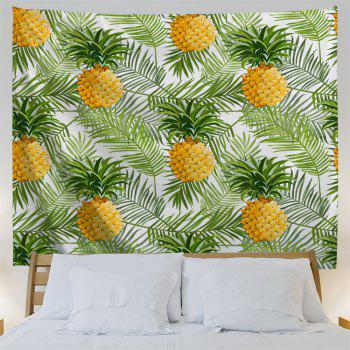 Palm Leaf Pineapple Wall Hanging Home Decor Tapestry - GREEN W71 INCH * L91 INCH