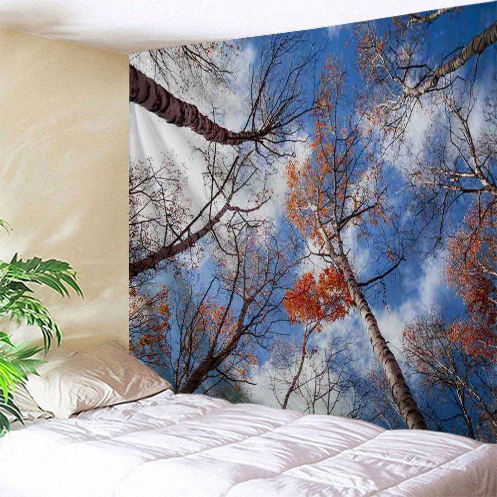 Sky Forest Print Tapestry Wall Hanging Art - COLORMIX W71 INCH * L79 INCH