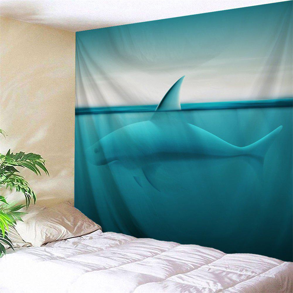 Sea Shark Polyester Wall Tapestry For Dorm - LAKE BLUE W51 INCH * L59 INCH