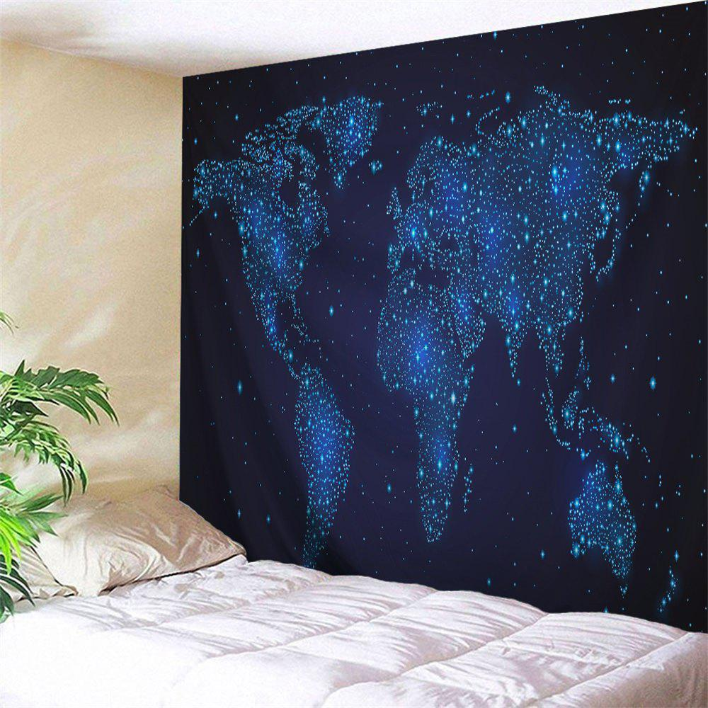 2018 hanging decor starry world map wall tapestry night blue w inch hanging decor starry world map wall tapestry night blue w51 inch l59 inch gumiabroncs Images