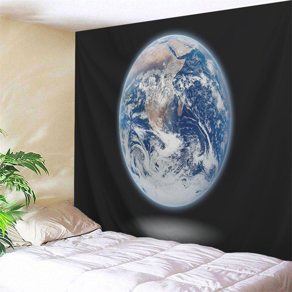 Moon Print Wall Hanging Tapestry Home Decoration - BLACK W71 INCH * L79 INCH