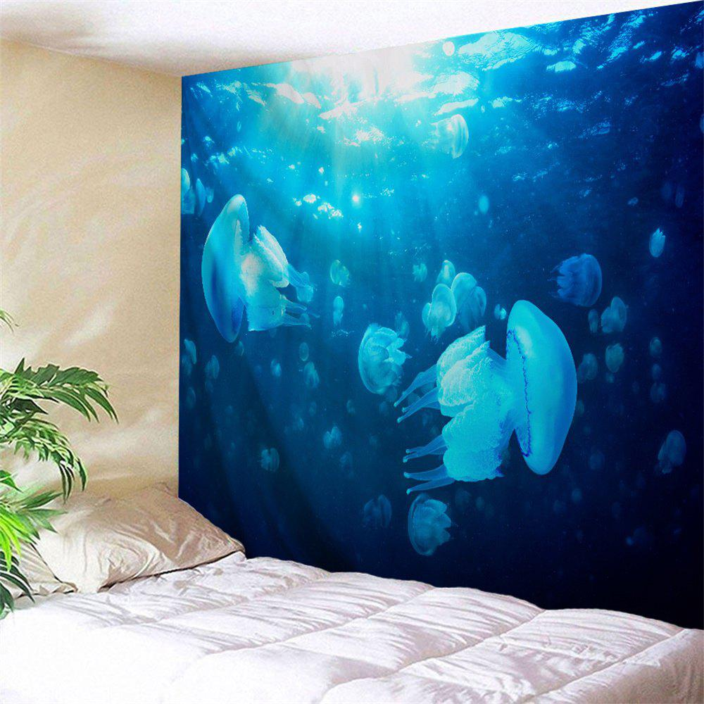 Ocean Jellyfish Print Fabric Wall Art Tapestry jellyfish jellyfish spilt milk deluxe edition 2 cd