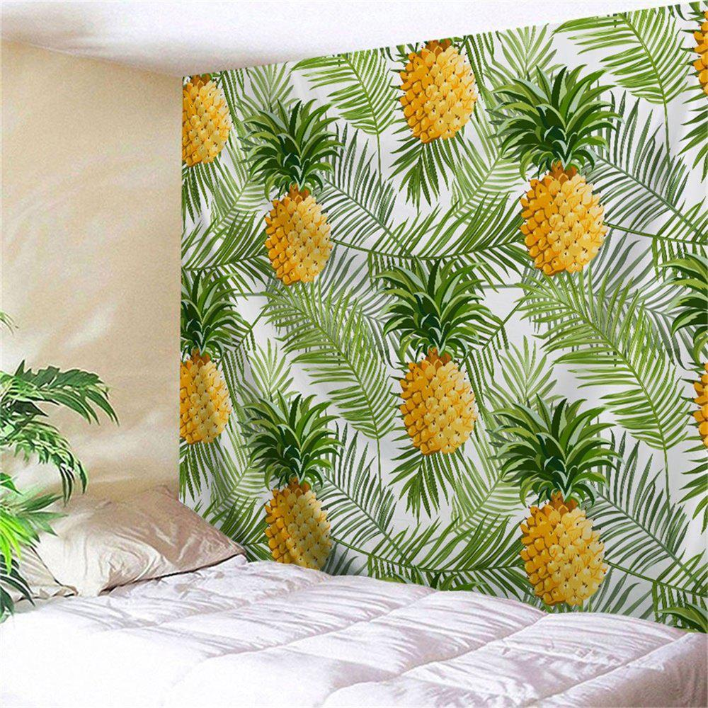 Palm Leaf Pineapple Wall Hanging Home Decor Tapestry - GREEN W51 INCH * L59 INCH