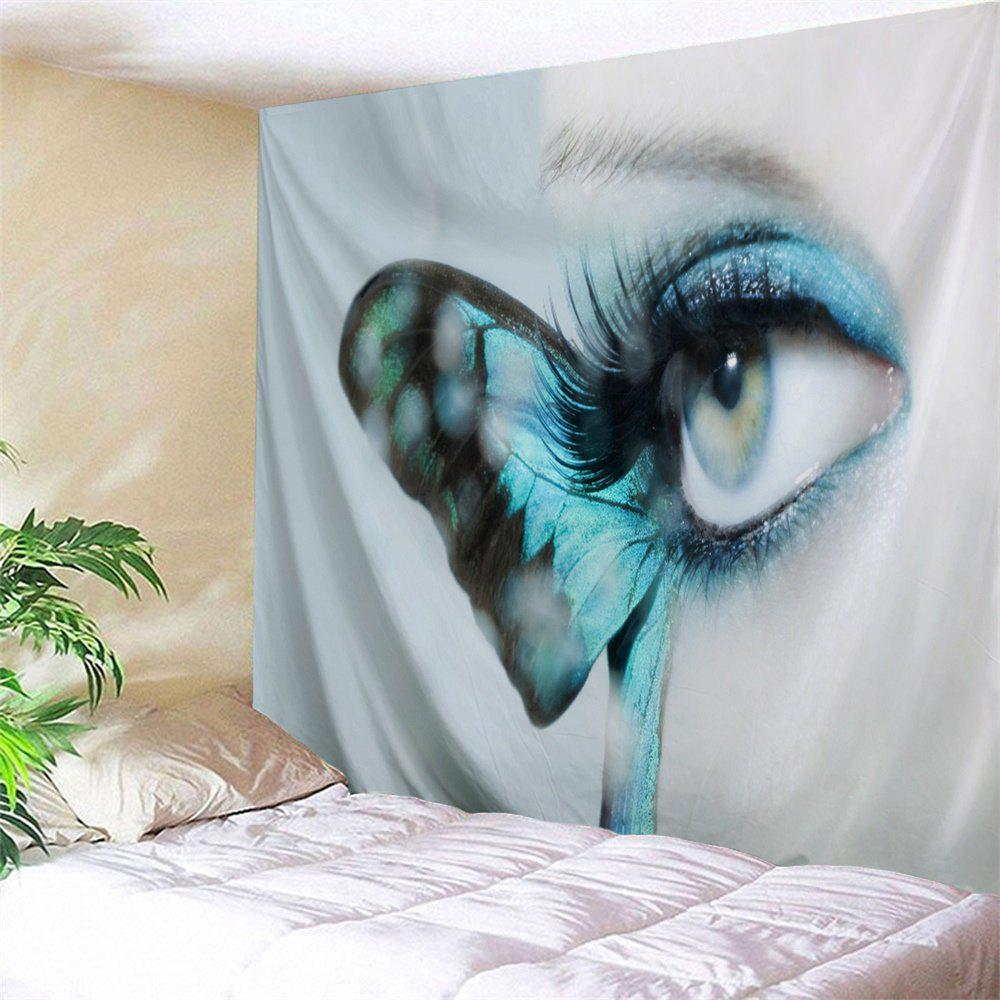Artistic Butterfly Eye Wall Decorative Tapestry - GREY WHITE W59 INCH * L79 INCH