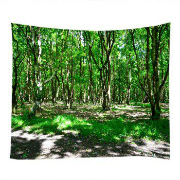 Sunshine Forest Print Tapestry Wall Hanging - GREEN W91 INCH * L71 INCH