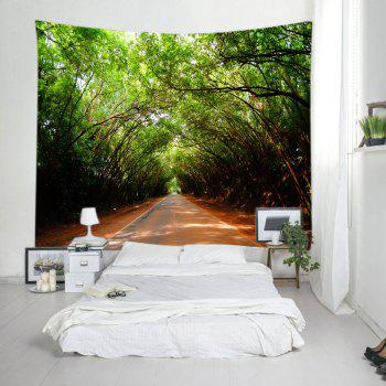 Forest Driveway Print Tapestry Wall Hanging Art - W91 INCH * L71 INCH W91 INCH * L71 INCH