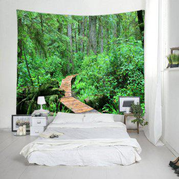 Forest Wood Path Print Tapestry Wall Hanging Art - W59 INCH * L51 INCH W59 INCH * L51 INCH